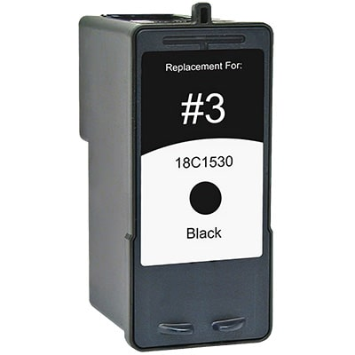 Lexmark #3 Ink Cartridge - Lexmark Remanufactured  (Black)